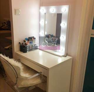 Hollywood Vanity Mirror (white)