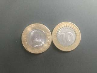India RS 10 Coin