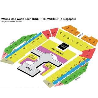 Wanna one 1 pair Cat 2 tickets Row24