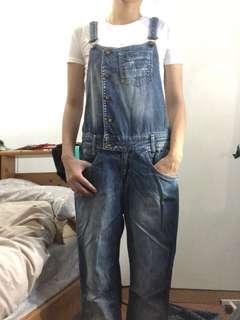 降價 Mango 牛仔吊帶褲 s-xs 8成新
