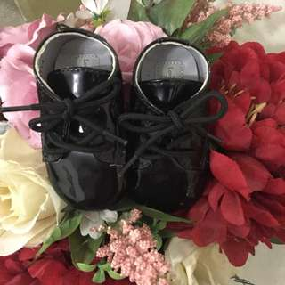 Lovely Lace Baby Black Shoes