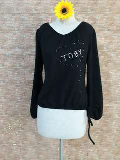 GLITTERY DESIGN KNITTED PULLOVER/SWEATER  S/M