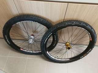 "26"" dh bike wheelset"