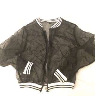 See Thru Bomber Jacket