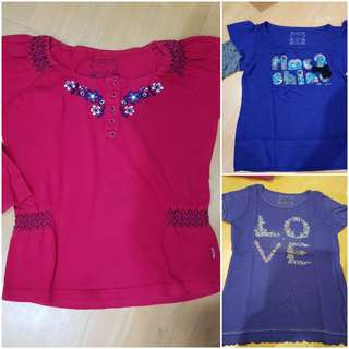 3 Pumpkin Patch tshirt for 7-8yo Price for all