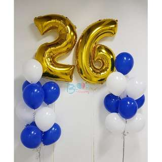 "40"" Number Foil Balloons (Helium)"