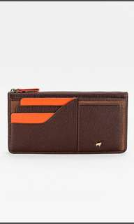 Smith Leather Purse Wallet in Brown and Orange
