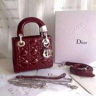 Lady Dior mini patent