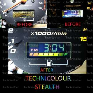 LCD Screen Repair Motorcycle Motorbike speedometer speedo meter Stealth Negative Inverted Technicolour