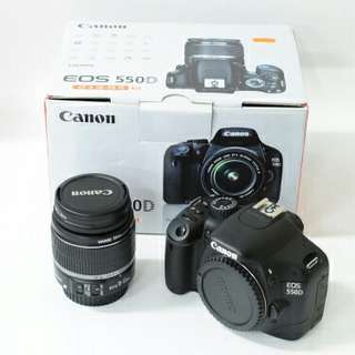 Canon EOS 550D on sale!!! (Free Lens)