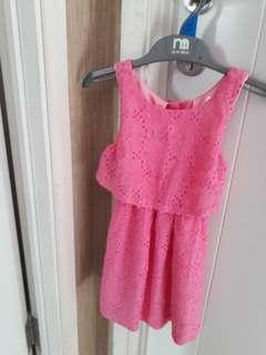 Dress pink pumpkin patch