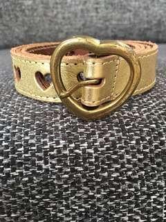 Gold Heart Belt