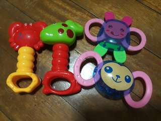 Rattle toys (take all for 200)