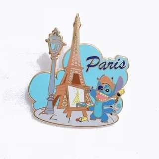 Disney Pin 迪士尼襟章 Stitch 史迪仔 - Paris Painter
