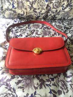 Authentic esquire red leather bag