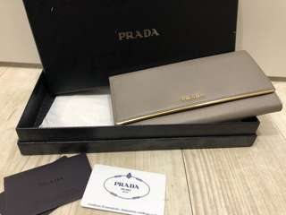 Prada Grey Wallet / Clutch