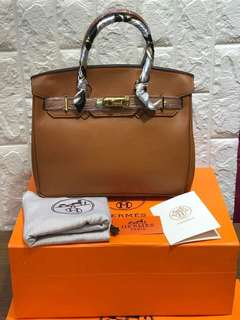 Hermes Birkin Leather Bag