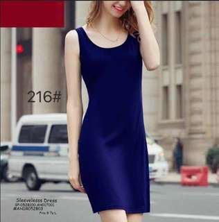 SLEEVELESS DRESS Fits S To L  Price : 270