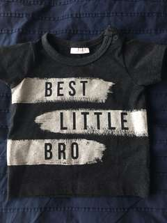 Next U.K. Best Little Brother Tshirt 0-3m