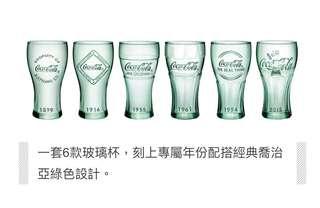可口可樂一套6款「百年經典」造型杯。
