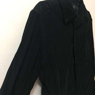 燈芯絨黑色裇衫