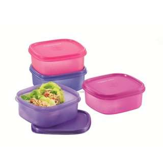 Tupperware Easy Pack (2) 650ml - Pink & Purple   Lunch Box  