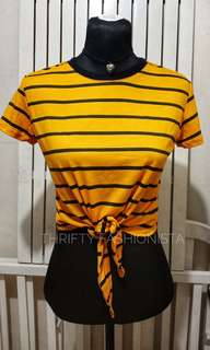 NEW! Yellow Tie front shirt