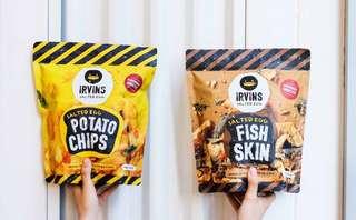 [PRE ORDER] Irvins Salted Egg Fish Skin & Potato Chips