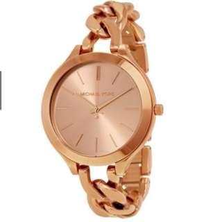 Michael Kors MK Slim Runway Twist Rose Gold-tone MK3223 Watch