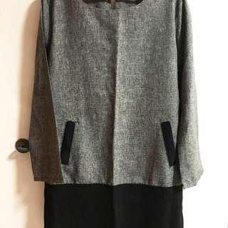 Smart Casual Grey Office Dress