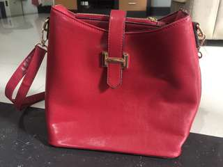 Red stylish bag
