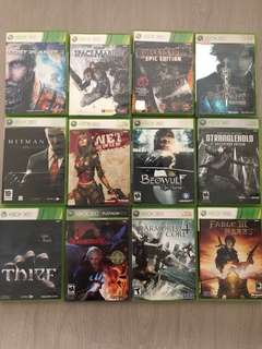 Xbox 360 Games ($10 each)