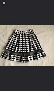 Skater skirt knee-length