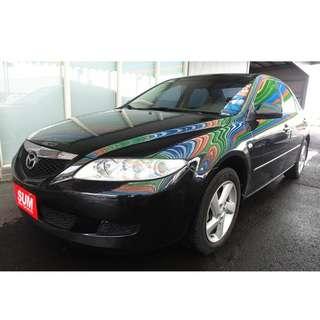 2004年 馬自達 Mazda6 2.0L 黑 日系進口經典 帥氣代步車~