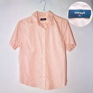 Soft Pinky Stripes Shirt by Uniqlo