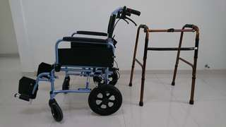 Wheelchair plus walker