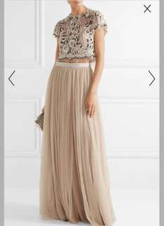 New Authentic (with Netaporter Tags) Needle and Thread Petal Top and Maxi Skirt