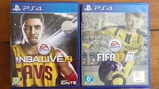 TAKE BOTH AT $10! FIFA 16 and NBA LIVE 14