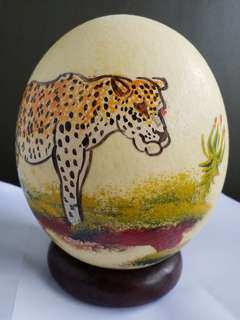 Decorative Ostrich egg from South Africa