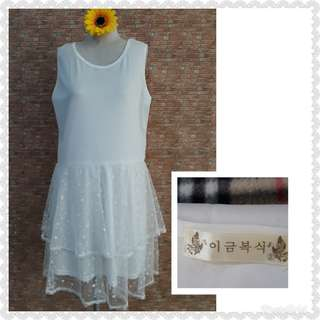 KOREAN🇰🇷 SLEEVELESS DRESS S/M/SEMI L