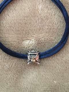 Two Tone Pandora Jewelry Box Charm