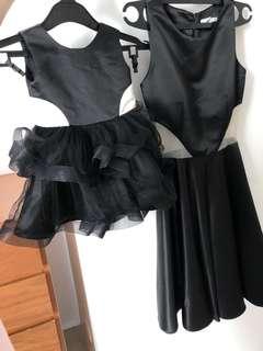 Black party dress mom&baby
