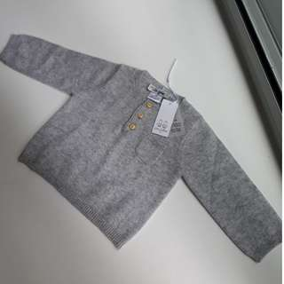 LES LUTINS Paris 100% Cashmere - New Baby Sweater 0/6months - Made in France