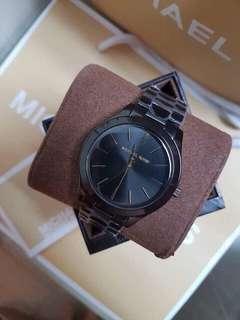 Michael Kors Slim Runway Black-Tone Stainless Steel Watch
