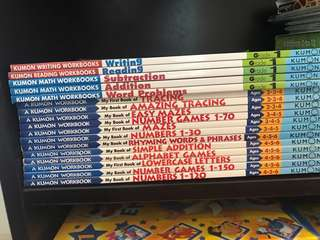 Various Kumon Workbooks -17 books