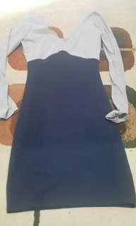 Mini dress lengan panjang