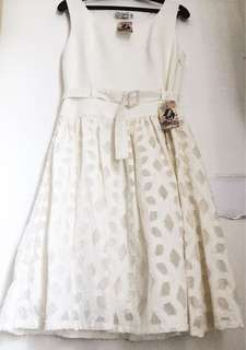 Just G. White Lace Dress