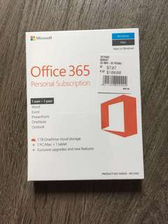 Office 365 Personal Subscription (1 user - 1 year