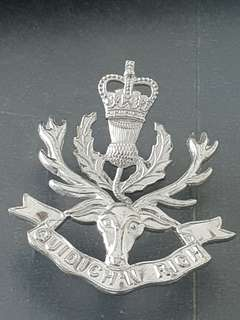 Genuine original WW2 Territorial Unit 3rd Battalion Queen's Own Highlanders Cap Badge never used