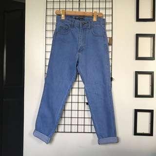 Korean Loose High Waist Denim Pants
